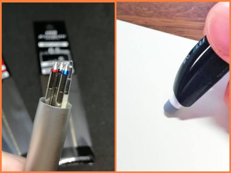 ボールペンの機能性