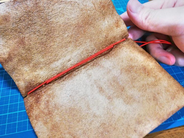 ダイアログノートのカバーを革で自作17