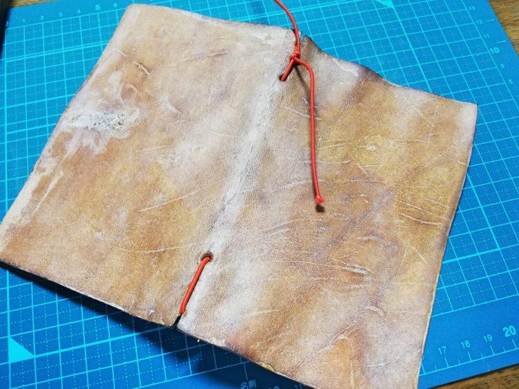 ダイアログノートのカバーを革で自作18