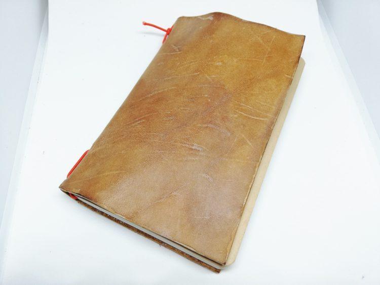 ダイアログノートのカバーを革で自作21