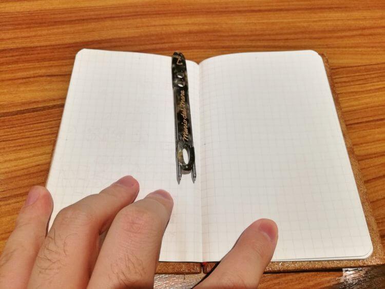手帳に挟むだけならインクがつかない
